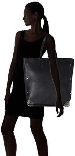 H black Totes Calvin X T Bolsos 12x40x33 Lock Klein Mujer b Ck Negro Shopper Corners Cm nqYU6xrqzw