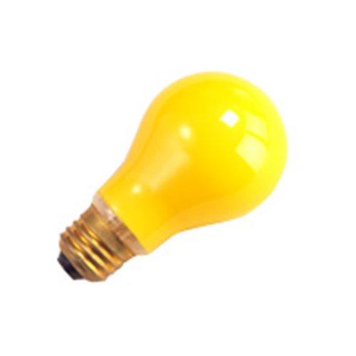 (10 Qty. Halco 40W A19 YEL BUG 130V 2M Halco A19BG40 40w 130v Incandescent Yellow Bug Lamp Bulb )