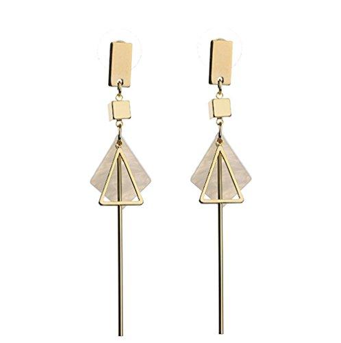 Geometric Triangle Earring Metal Simple Drop Earring Plating Gold Dangle Earrings For Women Costume Earring