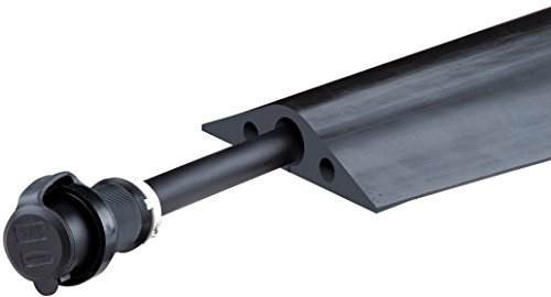 Powerback RFD8-5 Durable Rubber Heavy Duty Single Channel Duct Protector for Cable and Hose Lines up to 1.25 Diameter, Black, 5' Length by Checkers Industrial Safety Products