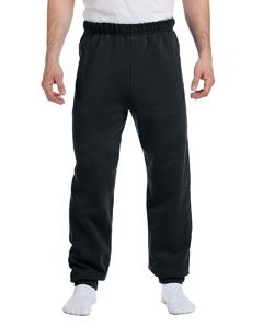 Jerzees 973M Adult NuBlend Poly/Cotton 50/50 Closed Bottom No Pocket Sweatpants - Black 973M Small ()