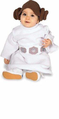 [Star Wars tm Princess Leia tm Toddler & Infant Fleece costume by Disney Princess] (Princess Leia White Robe)