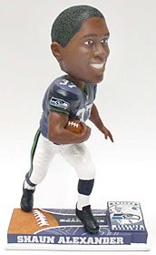 Seattle Seahawks Shaun Alexander On Field Bobblehead