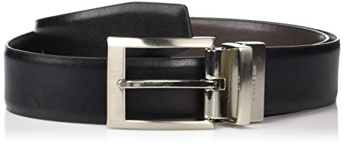 Calvin Klein Men's Smooth Leather Reversible Belt, Black/Brown, 36
