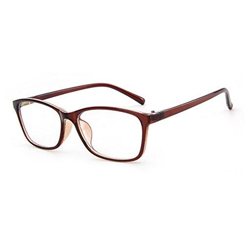 LOMOL Trendy Korean Design Student Style Transparent Lens Frame Glasses For - Silver Ben Frames Eyeglass