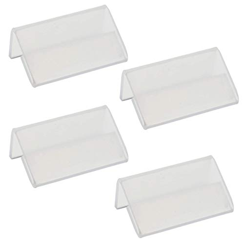 15 Pieces L Shape Mini Sign Display Holder Acrylic L Shape Counter Top Stand Clear Acrylic Price Card Tag Label Stand Display ()