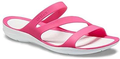 Crocs Womens - Swiftwater Sandal Size: 5 M US, Paradise Pink/White