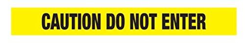 (Ironwear Barricade Tape, Yellow Caution Do Not Enter, 1000-Foot Roll 2.0 Mil)
