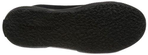 Superga 2795-syntshearlingw, Pompes à plateforme plate femme Noir - Nero (Full Black)