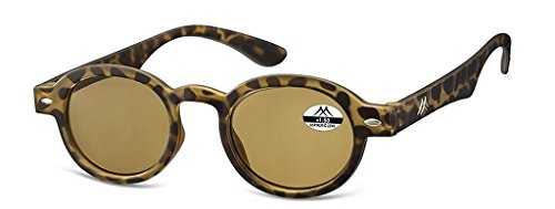 Madison & Mulholland High Tech Sun Readers 400 UVA/UVB Coated Protection Round Glasses, With Case - Unisex (2.0, - Now Is Sunglasses What Style In