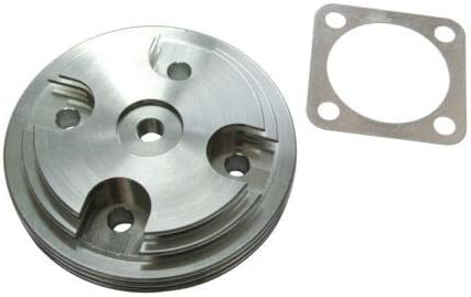 Mingdun CNC Silver Cylinder Head Cover/&Intake Manifold For 80cc Motorized Bicycle Engine