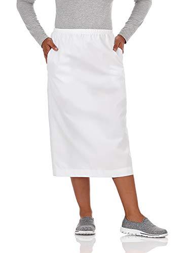 (Fundamentals 14231 Women's Classic Elastic Waist Scrub Skirt White)
