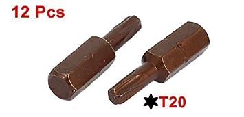 eDealMax 25 mm de largo de 1/4-Inch vástago hexagonal Torx T20 ...