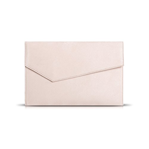 Clutch Blush - Anna Smith Envenlope Handbags for Women Evening Formal Crossbody Bag Personal Items,Clutch Purse for Gathering Matches Elegance with Removable Chain Strap Wedding Party Prom Thin Wallet(Light pink)