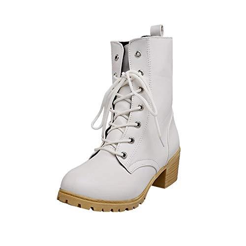 Med combattere caldo colore Stivali Donna Inverno Solid Bianca equitazione donne stivaletti casual scarpe Paolian wqYqP1Xx8