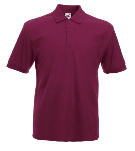 Fruit of the Loom Heavyweight 65/35 polo Burgund 2XL