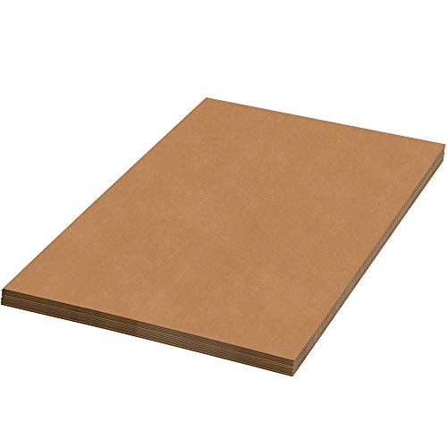 """Top Pack Supply Double Wall Corrugated Sheets, 24"""" x 30"""", Kraft (Pack of 5)"""