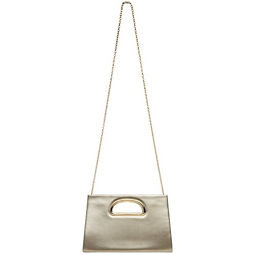 with Champagne Detachable TA409 Large Handle Women Evening Bag and Chain CASPAR for XL Stylish x0OUfwqf4