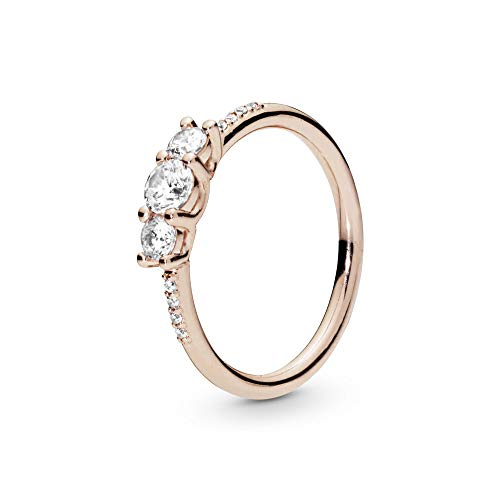PANDORA Sparkling Elegance PANDORA Rose Ring, Size: EUR-54, US-7-186242CZ-54