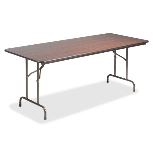 Lorell 65757 Folding Table, 72-Inch x30-Inch x29-Inch, Mahogany