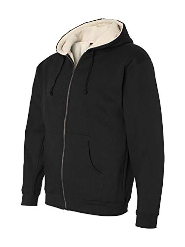 Independent Trading Co Sherpa Lined Full-Zip Hooded Sweatshirt. EXP40SHZ - XXX-Large - Black / ()