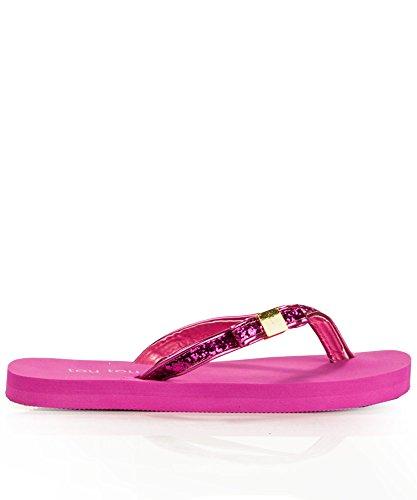 T HOT Thong GLITTER 8 Women's Strap Sandal PINK Swfddxq