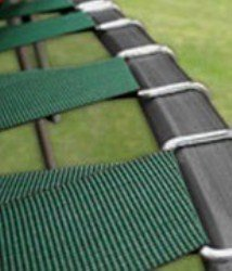 Upper Bounce Trampoline Replacement Jumping Mat, fits for Round Frames with V-Rings - MAT ONLY