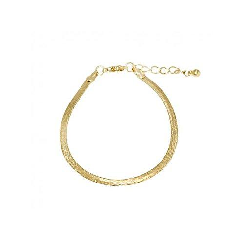 Bracelet Maille Miroir 3mm Métal Doré