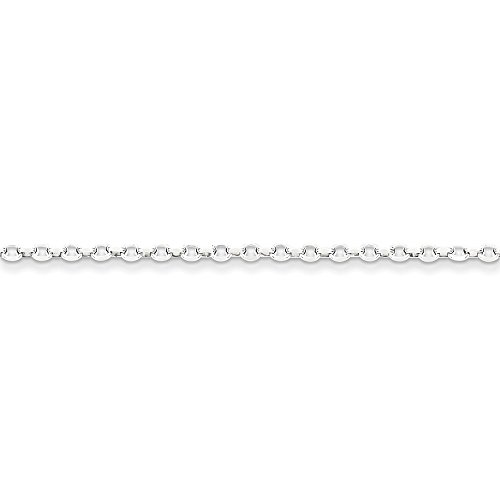 16' Diamond Cut Cable Chain (Roy Rose Jewelry Sterling Silver 2.5mm 8 Side Diamond Cut Cable Chain 16'' length)