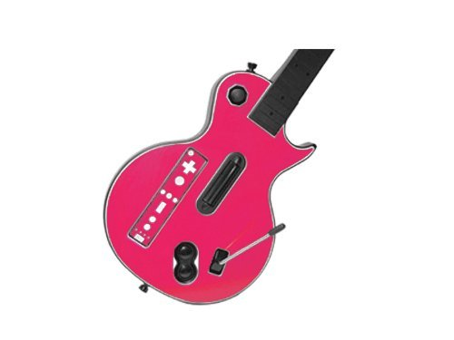 Nintendo Wii Guitar Hero Faceplates (Guitar Hero III 3 (GH3) for Nintendo Wii Skin - NEW - PARTY PINK system skins faceplate decal mod)