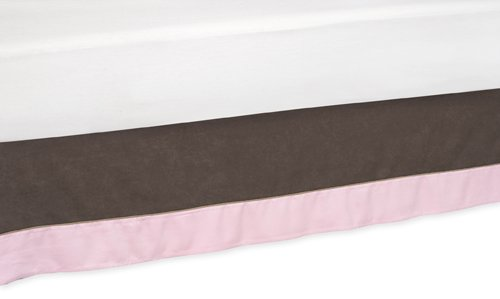 Soho Pink and Brown Queen Childrens Bed Skirt by Sweet Jojo Designs Skirt-SohoPink-Q
