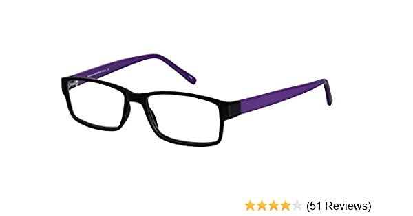 a4bcabe92d No-Line Trifocal Reading Glasses. Plastic Rectangular Frame with Anti Glare  Coated Lenses (1.00