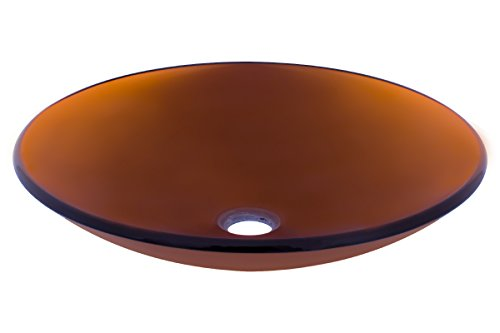 Novatto IN BASSO Glass Vessel Bathroom Sink