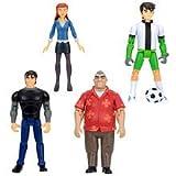 Ben 10 Exclusive 4 Inch Action Figure 4Pack Set #96251 Ben, Gwen, Kevin Grandpa Max