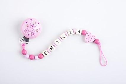 Perle infantil - Cadena para chupete con nombres Emilia ...