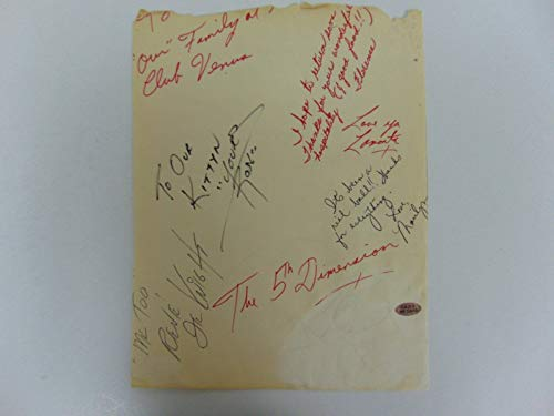 """VERY RARE!""""Up, Up and Away"""" The 5th Dimension Group Signed Album Page PAAS COA from Unknown"""
