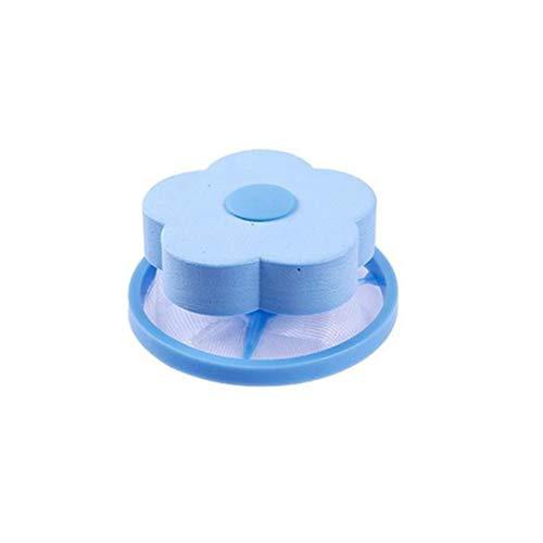 OUNONA Reusable Washing Mesh Bag Machine Floating Lint Hair Filter Net Pouch (Blue)