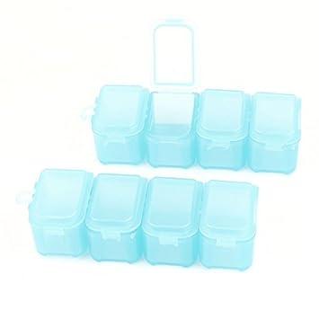 eDealMax plástico 4 compartimentos píldora cuadro Titular 2pcs caso del organizador de almacenamiento