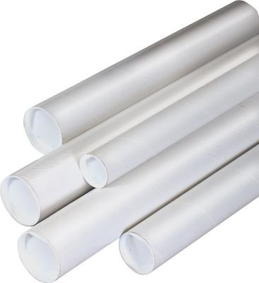 Staples Mailing Tube, White, 2'x24' (468298)