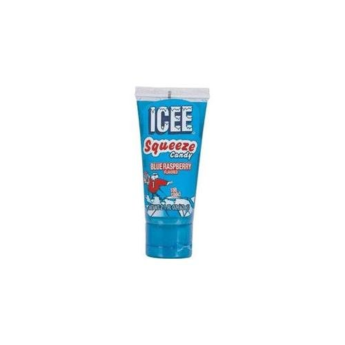 Icee Squeeze Candy Cherry, Green Apple, and Blue Raspberry (Pack of 12) -