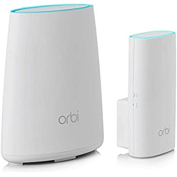 NETGEAR Orbi Home WiFi System: AC2200 Tri-Band Home Network - Router & Wall Plug Satellite. Up to 3,500sqft of WiFi Coverage (RBK30). Works with Amazon Alexa