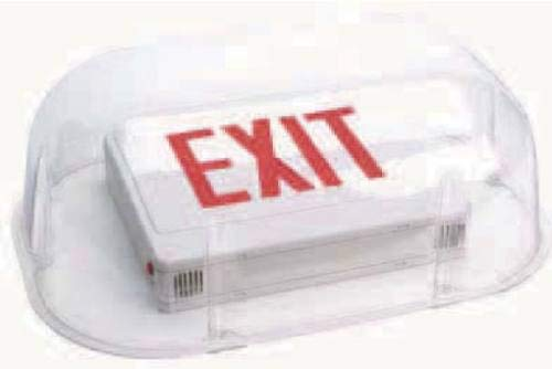 Polycarbonate Vandal/Environmental Bubble Shield Guard For Exit Signs