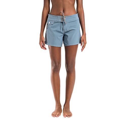 Birdwell Women's Stretch Board Shorts - Long Length (Light Blue, 10) by Birdwell Beach Britches (Image #1)