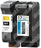 Combo Pack I Remanufactured HP 15/17 C6615DN/C6625A (1 BLK+1 CLR), Office Central