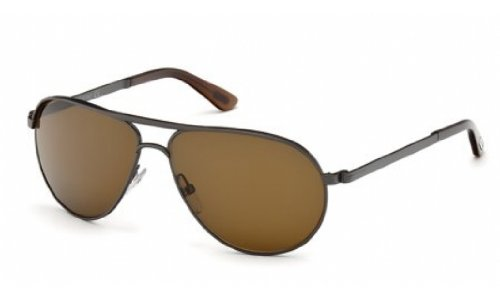 ebb472a0252 Tom Ford Marko FT0144 Sunglasses-09J Matte Gunmetal (Roviex Brown - Ft0144  Sunglasses Tom