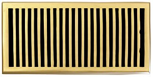 Brass Elegans 116HR-PLB Solid Cast Brass Contemporary 6-Inch by 12-Inch Floor Register, Polished Brass Finish Model