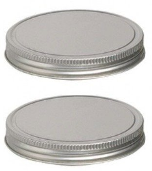 1 Gallon Replacement - Anchor Hocking Replacement Lid For 1 Gallon Cracker Jar - Silver, Set Of 2