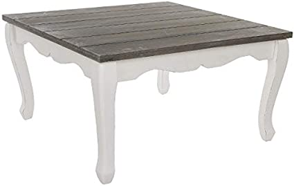 My Flair Tavolino Da Salotto Abete Colore Legno Bianco Anticato 63 X 63 X 33 Cm Amazon It Casa E Cucina