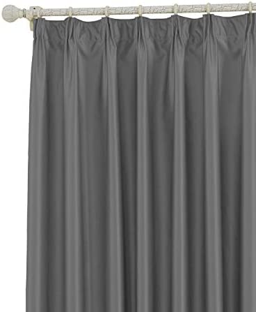 COFTY Classic Solid Thermal Insulated Blackout Curtain Panel Drapes Grey