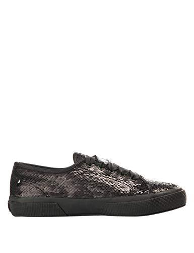 SUPERGA Women 2750 Sequin Sneakers Black in Size US 9.5